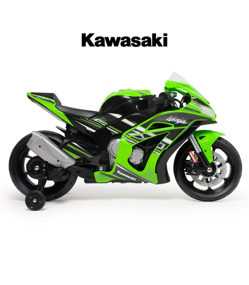 Moto Kawasaki Ninja 12V con luces LED y mp3