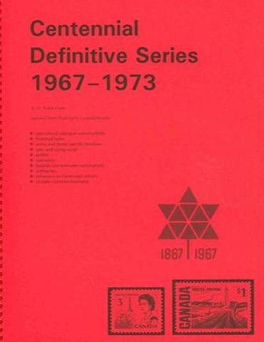 CENTENNIAL DEFINITIVE SERIES 1967-73  SPIRAL BOUND