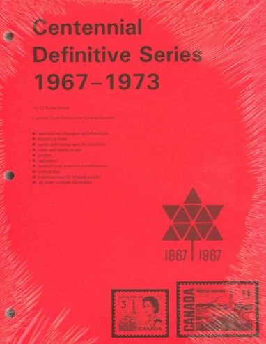 CENTENNIAL DEFINITIVE SERIES 1967-73   3 HOLE PUNCH