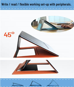 Multi-angle adjustable portable mobile phone lazy stand universal folding tablet computer table stand for iPhone / ipad