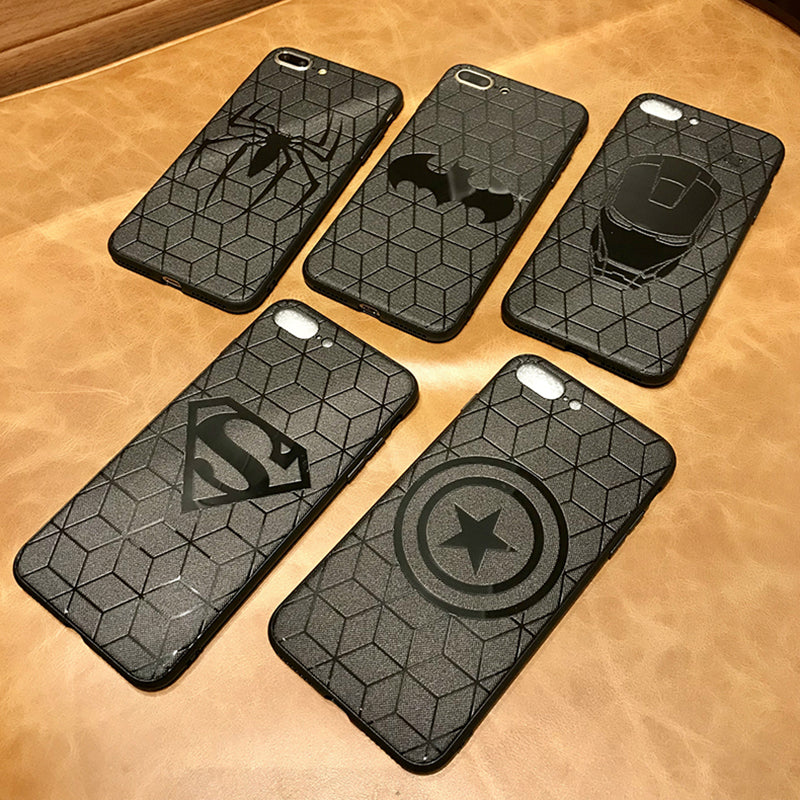 Marvel Avengers Captain America Shield Superhero Case for iPhone 6s 7 8 Plus X 10 Silicone Rubber Cover Ironman coque
