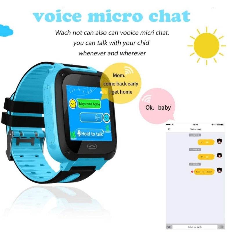 GPS Tracker Kids Camera Smart Watch Mirco SIM Calls Anti Lost LBS SOS Location Alarm for iPhone iOS Android