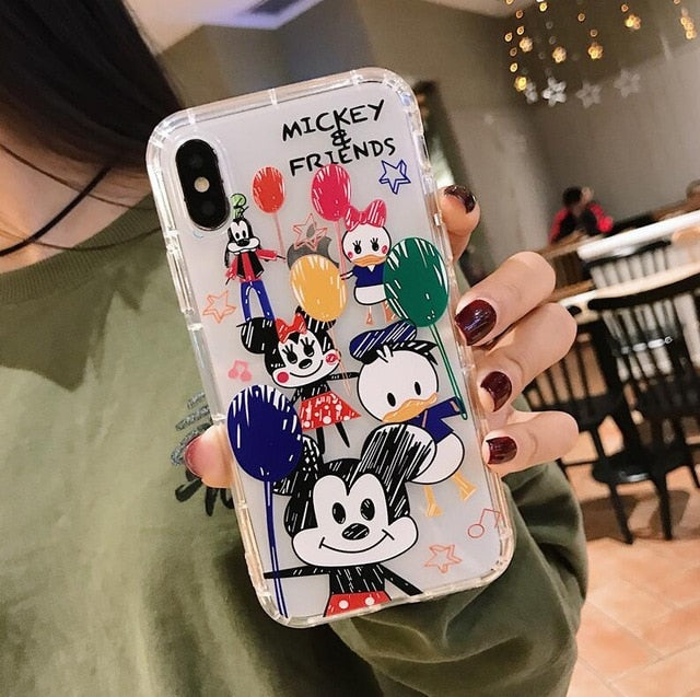 Doodle Graffiti Scribble Minnie Mickey Mouse Cartoon For IPhone