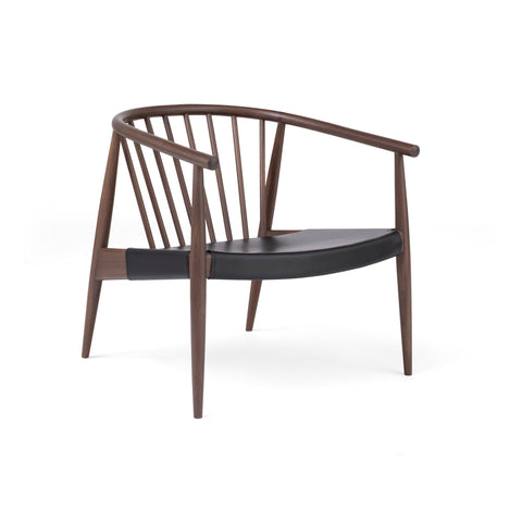 Ercol - Reprise Sessel in Walnuss & Leder