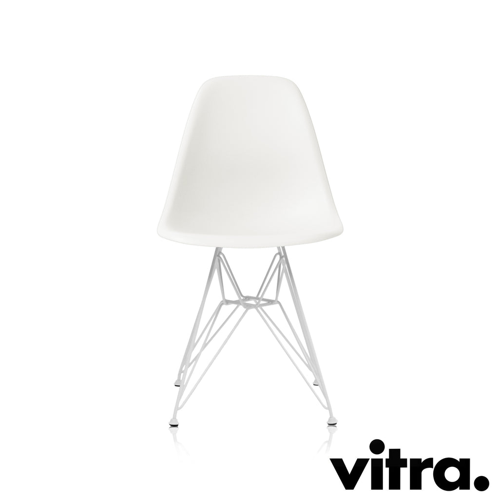 Vitra – Eames Plastic Side Chair DSR, Untergestell weiss