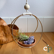 Load image into Gallery viewer, Hanging Air Plant Kit Macrame Amethyst