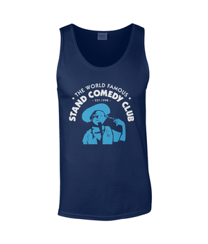 Mens Vest Tank Top | The Stand Classic Blue Cowboy