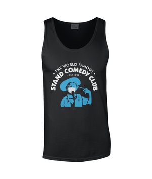 Mens Vest Tank Top | The Stand Covid Blue Cowboy