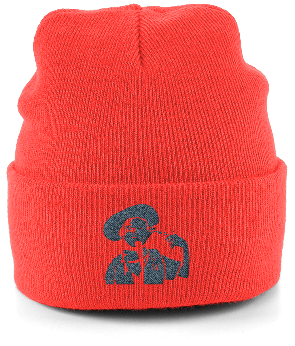 Unisex Cuffed Embroidered Stand Cowboy Beanie
