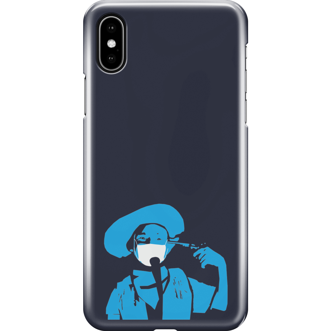 iPhone XS Max Full Wrap Phone Case |  The Stand Covid Blue Cowboy
