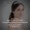 Buy one bridesmaid robe and get 20% off Earrings