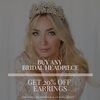 buy any bridal headpiece and get 20% off Earrings