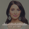buy 1 pair of earrings, get 20% off the 2nd