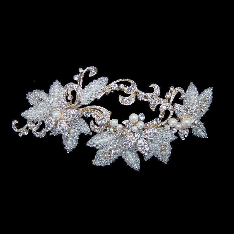 Grace Bridal Headpiece (Gold) - Hair Accessories - Headpieces - Roman & French