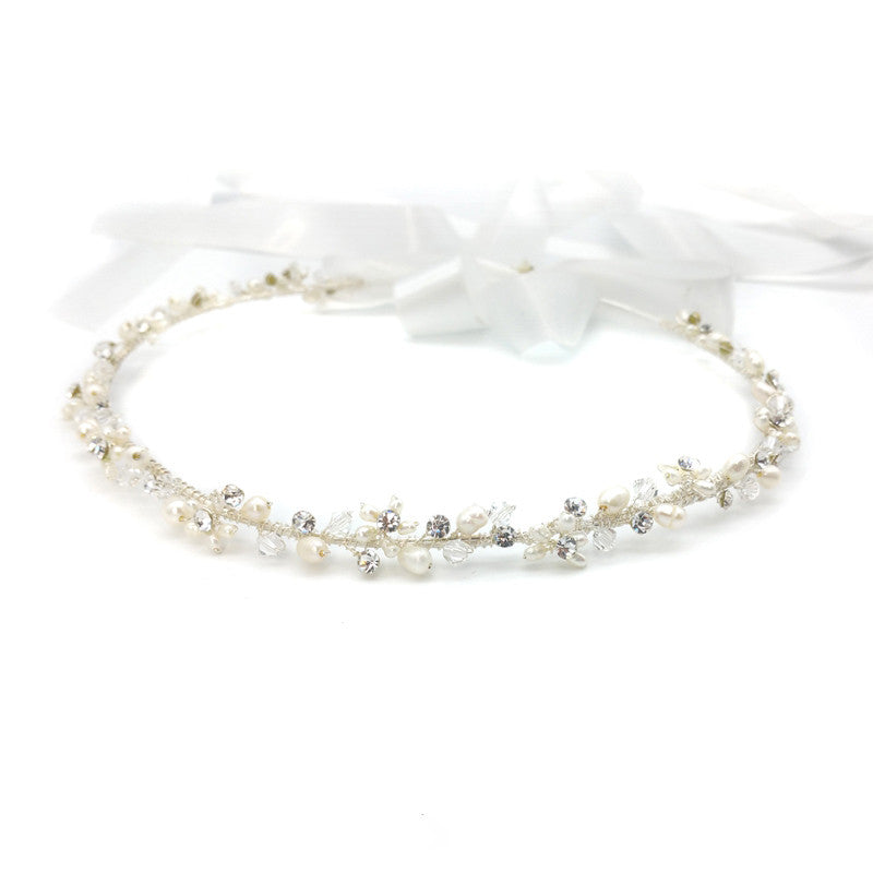 Stephanie Bridal Stefana Crown - set of 2 - Hair Accessories - Stefana - Roman & French