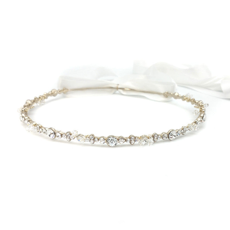 Sandra Bridal Stefana Crown (Gold) - set of 2 - Hair Accessories - Stefana - Roman & French