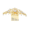 Whitney Bridal Hair Comb - Gold - Hair Accessories - Hair Comb - Roman & French