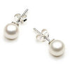 Cultured Pearl- 925 Sterling Silver - Earrings - Glamour Stud - Roman & French
