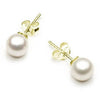 Cultured Pearl- 9ct Yellow Gold - Earrings - Glamour Stud - Roman & French