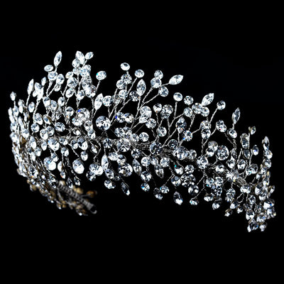 Aalia Bridal Crown - Hair Accessories - Tiara & Crown - Roman & French