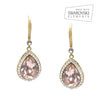 Aaliyah Bridal Earrings - Vintage Rose