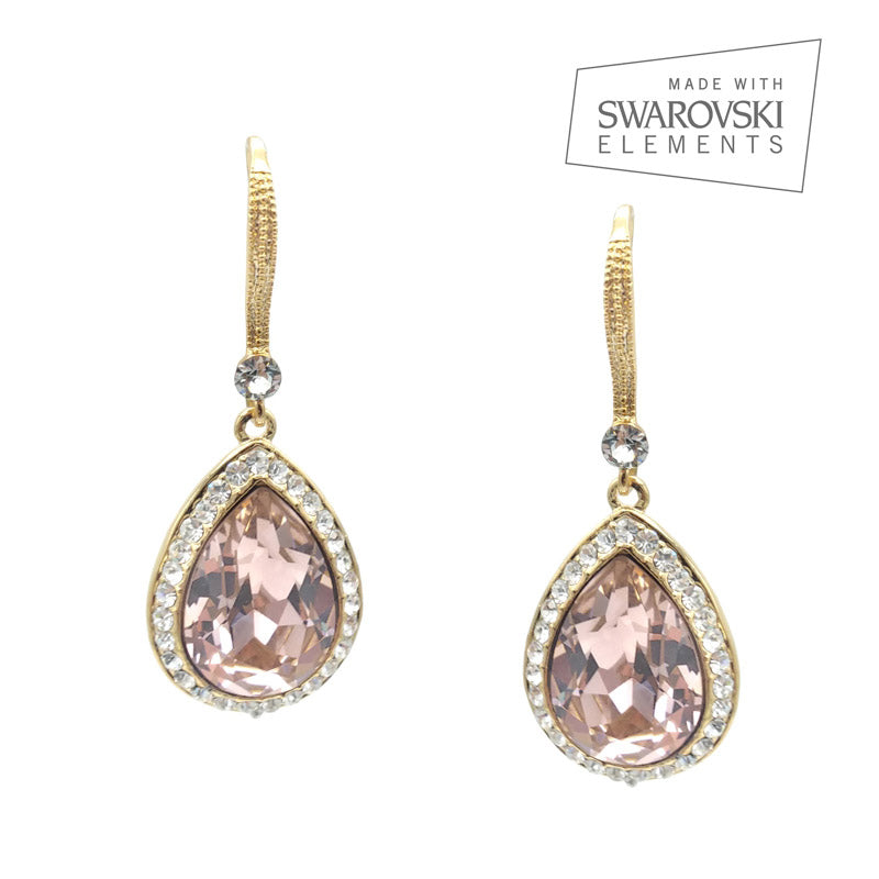 Bridal & Wedding Earrings - Rose Gold - Roman & French