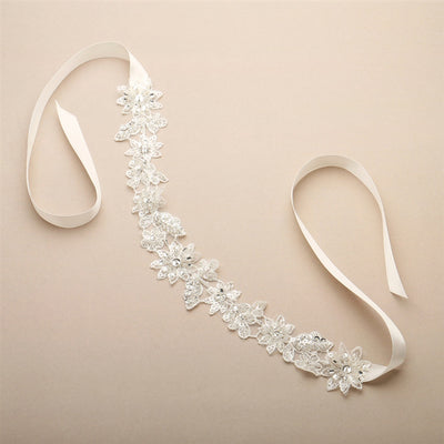 Abella Bridal Headband - Roman & French  - 2