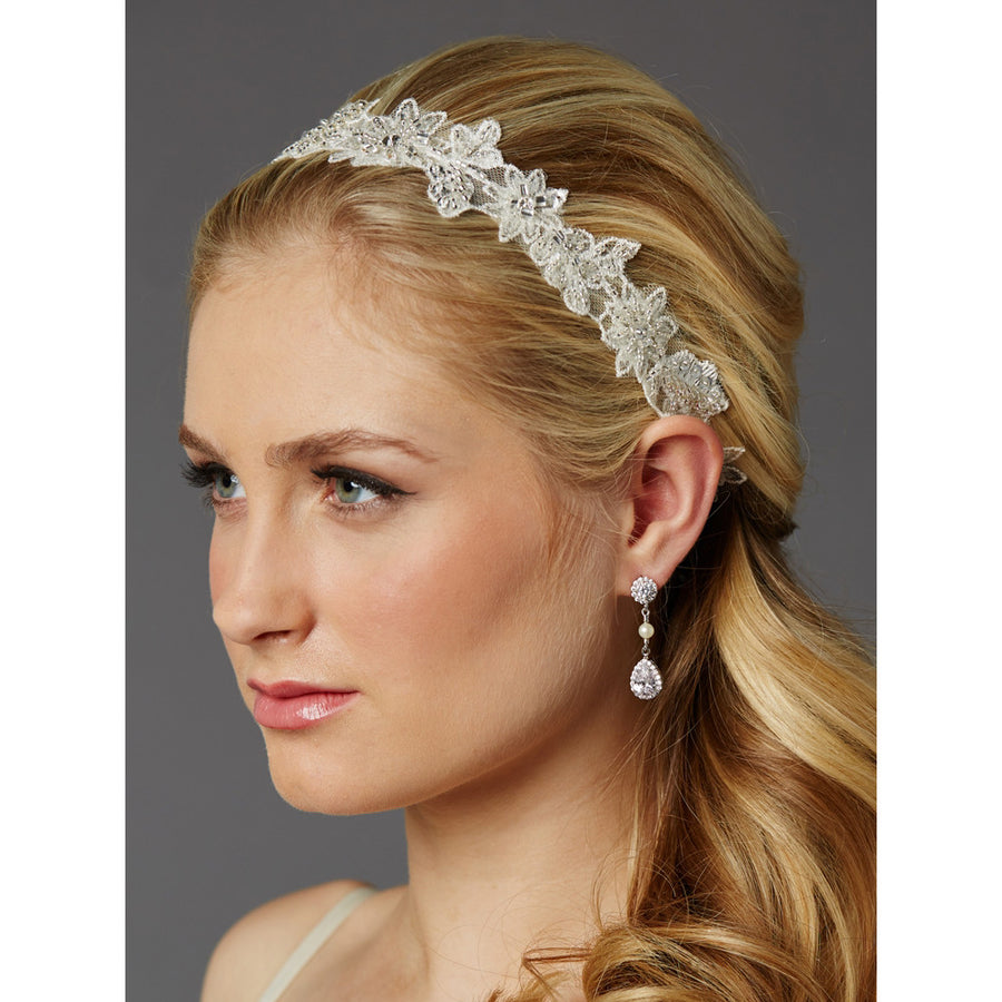 Bridal Hair Accessories With Lace Roman French
