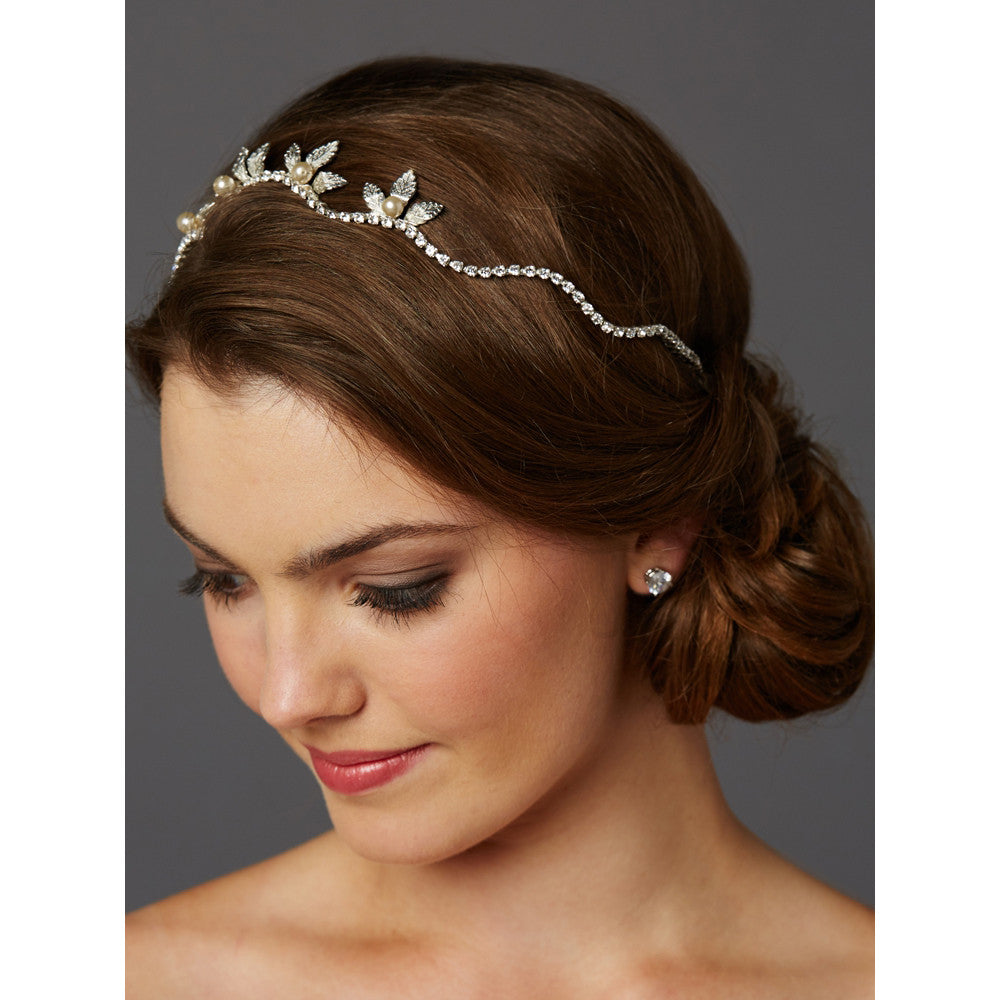Adelina Bridal Crown - Hair Accessories - Tiara & Crown - Roman & French