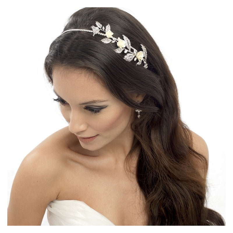 Adley Bridal Headband - Hair Accessories - Headbands,Tiara - Roman & French