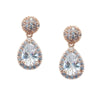 Alexandra Bridal Earrings - Light Rose Gold - Earrings - Classic Short Drop - Roman & French