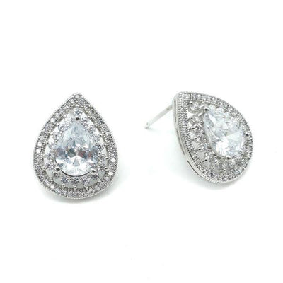 Alisse Bridal Earrings - Earrings - Glamour Stud - Roman & French