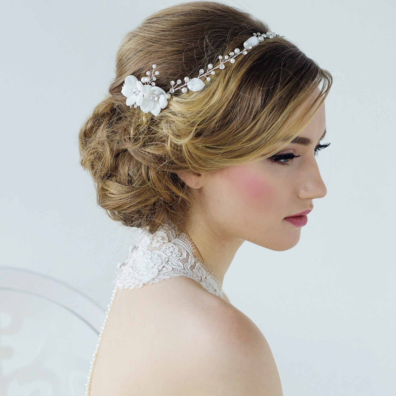 Anais Bridal Headpiece - Roman & French  - 1