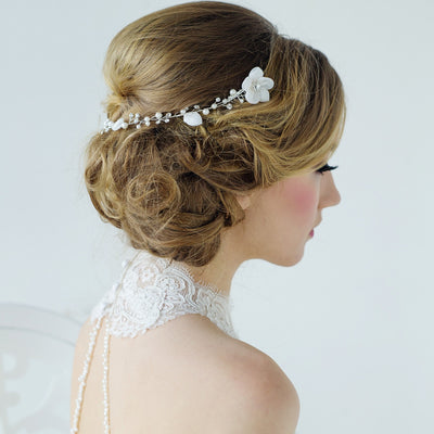 Anais Bridal Headpiece - Roman & French  - 3