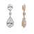 Andree Bridal Earrings - Light Rose Gold - Earrings - Long Drop - Roman & French