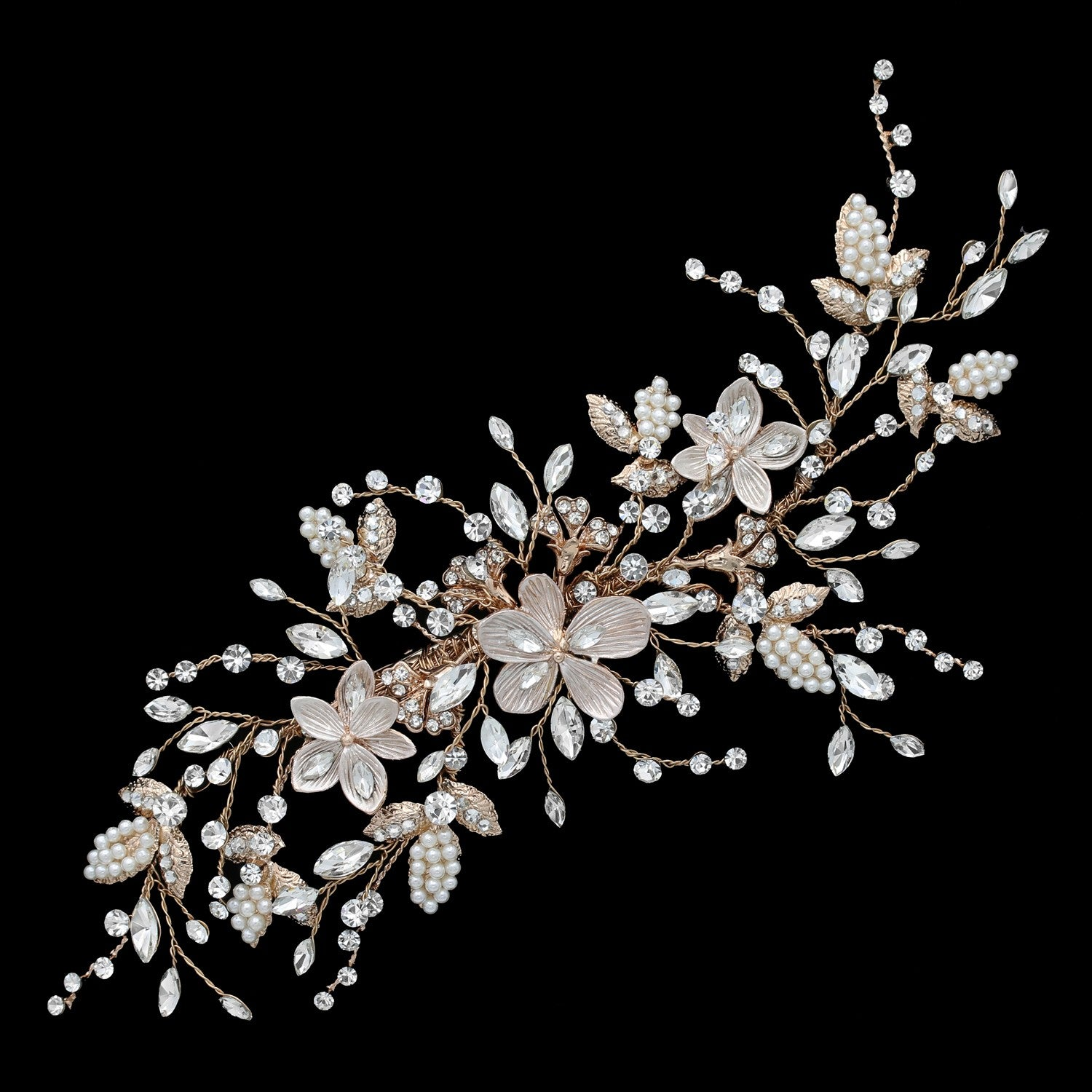 Anelia Bridal Headpiece (Rose Gold)