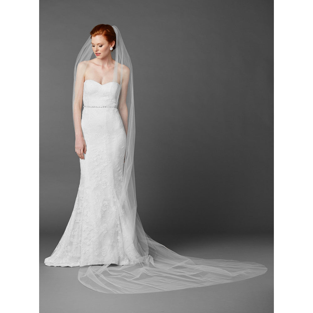 Angelica Bridal Veil - White - Roman & French