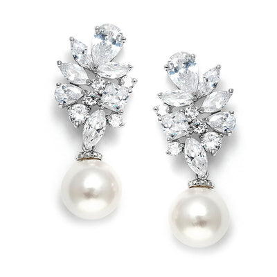 Angelique Bridal Earrings - Roman & French