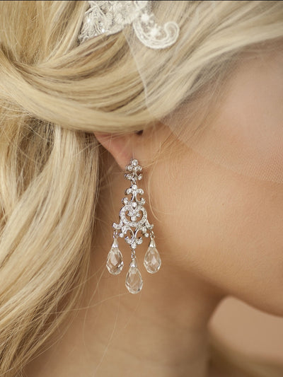 Anouk Bridal Earrings - Earrings - Long Drop - Roman & French