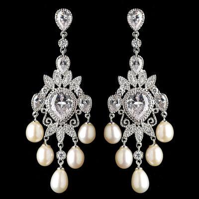 Ardelis Bridal Earrings - Earrings - Long Drop - Roman & French