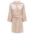 Ariel - discontinued Nude Champagne Satin Robe
