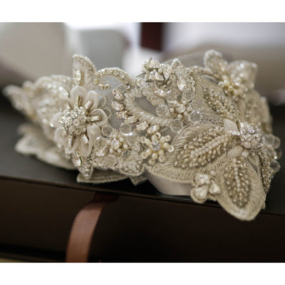 Aster Bridal Sash - Bridal Sash - Roman & French
