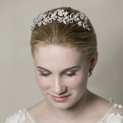 Augusta Diademe Bridal Crown - Hair Accessories - Tiara & Crown - Roman & French