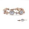 Aurore Bridal Bracelet - Light Rose Gold - Roman & French