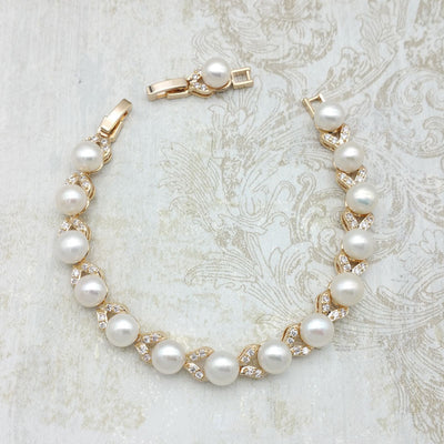 Avery Bridal Bracelet Gold - Roman & French  - 2