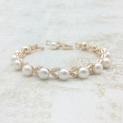 Avery Bridal Bracelet Gold - Roman & French  - 1