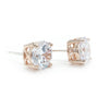 Owen Bridal Earrings - Light Rose Gold - Earrings - Glamour Stud - Roman & French