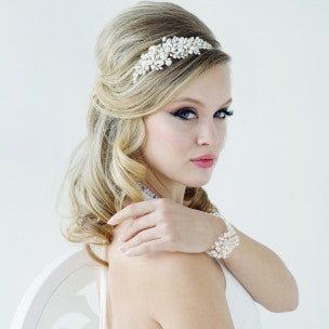 Bessie Bridal Headband - Hair Accessories - Headbands,Tiara - Roman & French