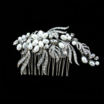 Bayonne Bridal Hair Comb - Hair Accessories - Hair Comb - Roman & French