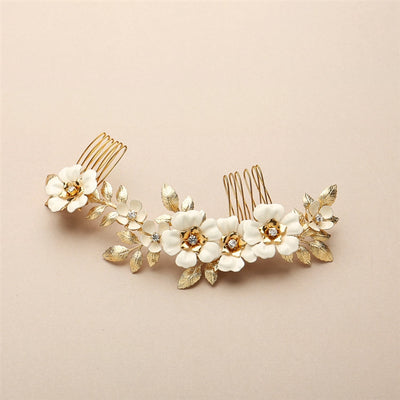 Beauregard Bridal Hair Comb Gold - Hair Accessories - Hair Comb - Roman & French